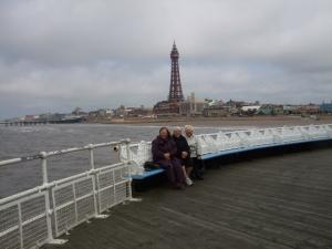 Mom, Elizabeth and Sheila on the pier