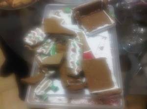 My gingerbread house - after the fall