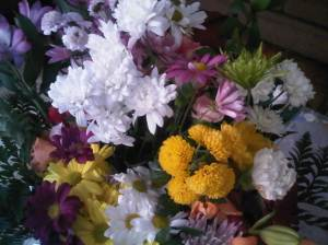 The six bunches of flowers I got from my guy friends on my birthday last year.