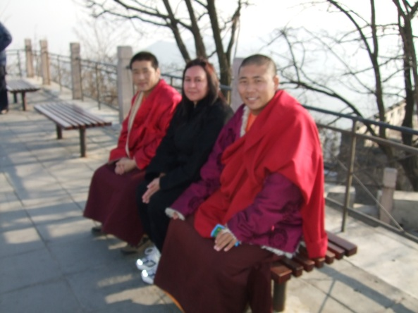 Me and Two Monks at the Great Wall of China in Beijing