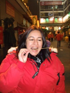 Me Eating a Tiny Scorpion in Beijing
