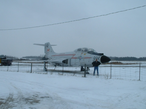 A fighter jet outside Lindsay, Ontario