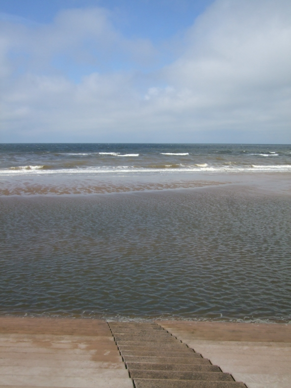 Water in Blackpool, England