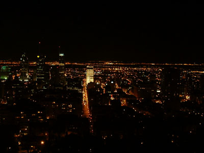 View of Montreal at night