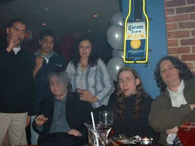 The crew on New Years at Stogies.
