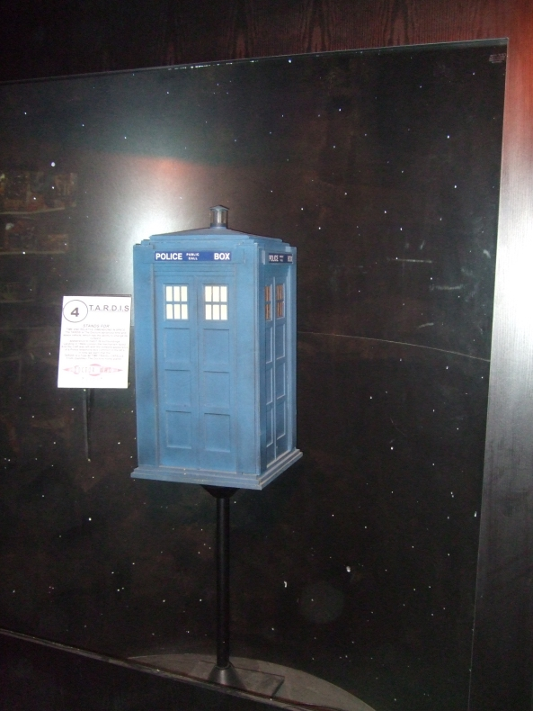 A model of the TARDIS taken at the Doctor Who museum in Blackpool England