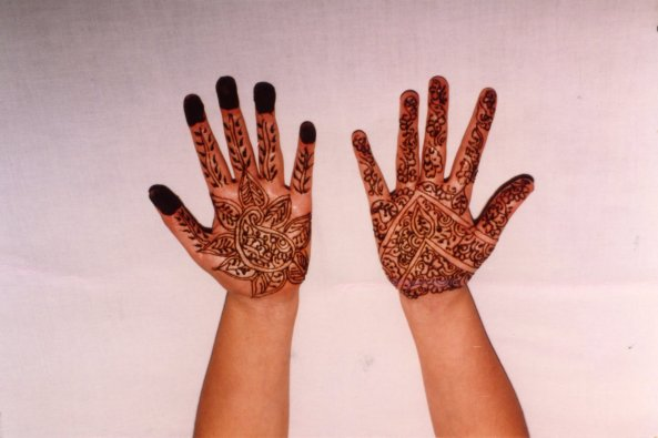 Mehndi on my hands when I was 12