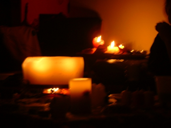 Candles at Halloween