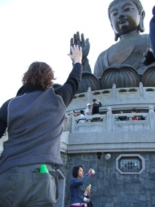Near and Far - A High Five With Buddha