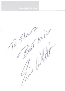 Ernie Whitt Autograph