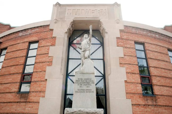 Malvern Collegiate Institute Cenotaph Restored in November, 2011