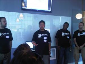 The DevTO Team: Nael, Jo, Kevin and Chris