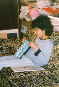 Ravi folding one of his shapes as a kid