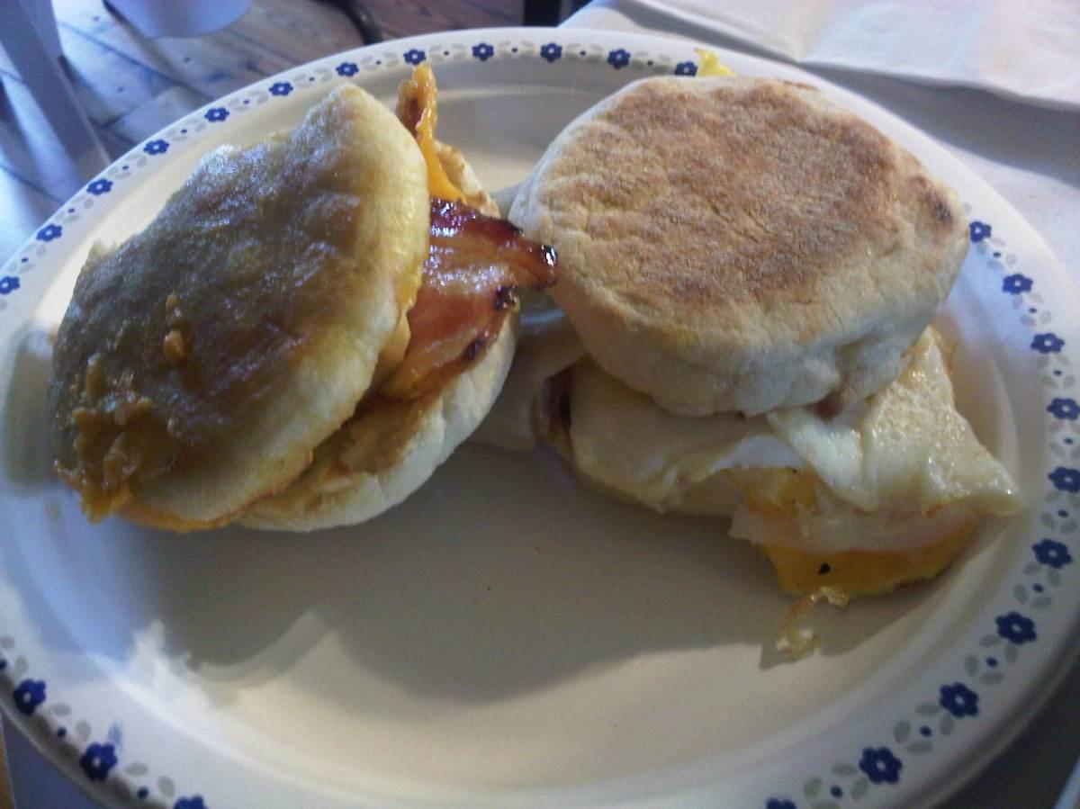 Breakfast! Been having egg sandwiches lately